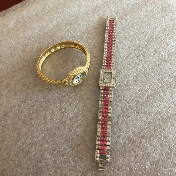 Pair of Bob Mackie & Suzanne Somers Bling Watches